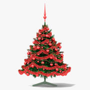 Red Christmas Tree 3d model