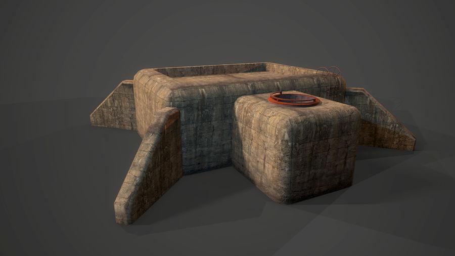 陣地壕 royalty-free 3d model - Preview no. 31