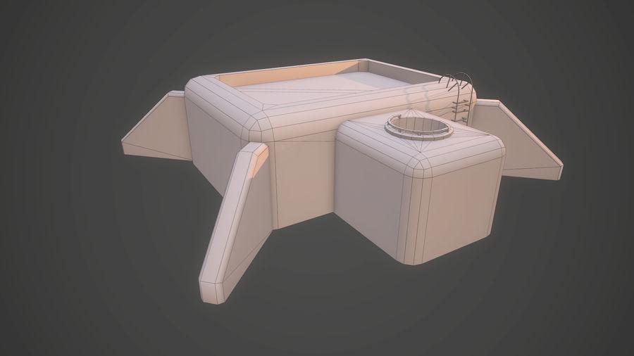 陣地壕 royalty-free 3d model - Preview no. 12