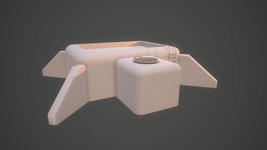 陣地壕 royalty-free 3d model - Preview no. 21