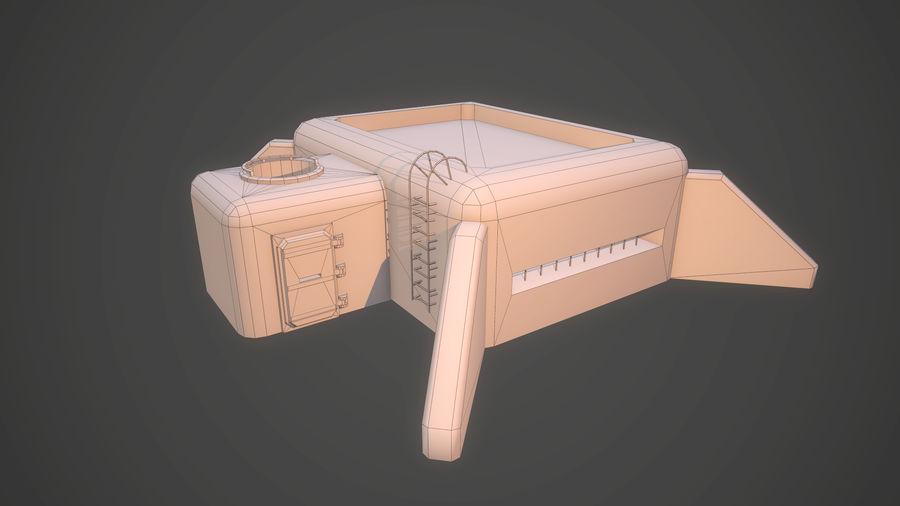 陣地壕 royalty-free 3d model - Preview no. 11