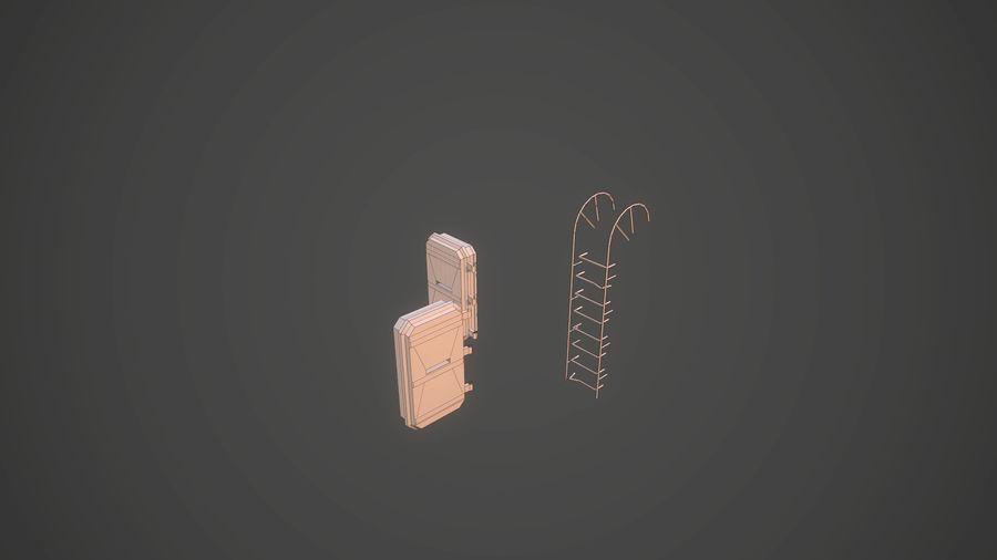 陣地壕 royalty-free 3d model - Preview no. 17