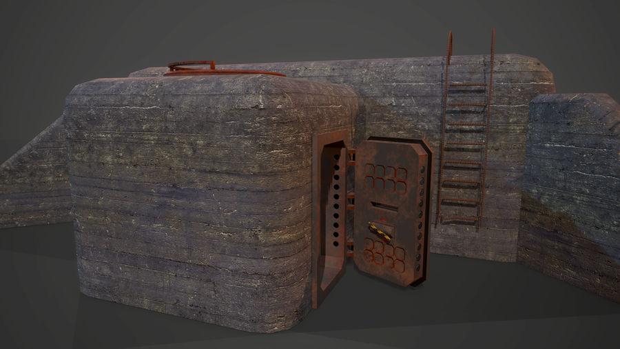 陣地壕 royalty-free 3d model - Preview no. 8