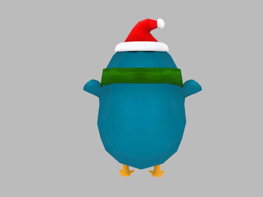 Christmas Penguin royalty-free 3d model - Preview no. 4