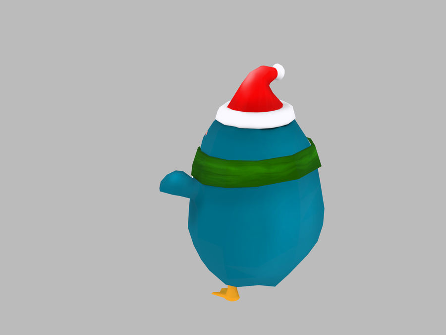 Christmas Penguin royalty-free 3d model - Preview no. 5