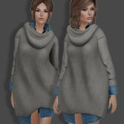 Sweater and Shirt 3d model