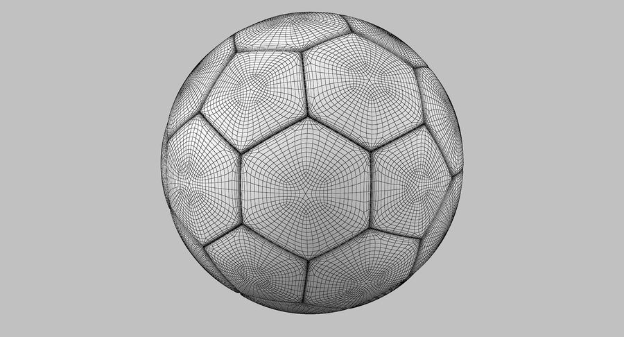 Soccer Ball royalty-free 3d model - Preview no. 9