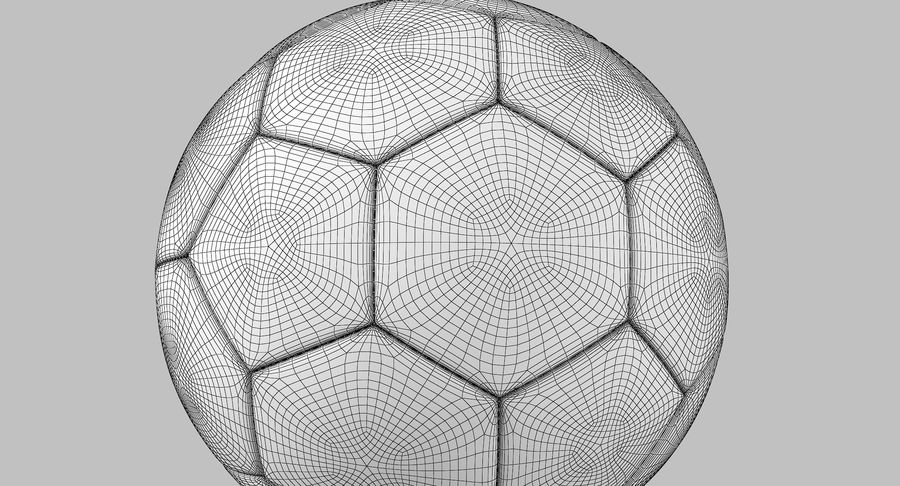 Soccer Ball royalty-free 3d model - Preview no. 12