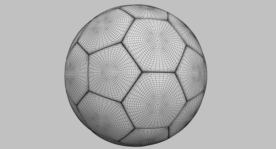 Soccer Ball royalty-free 3d model - Preview no. 14