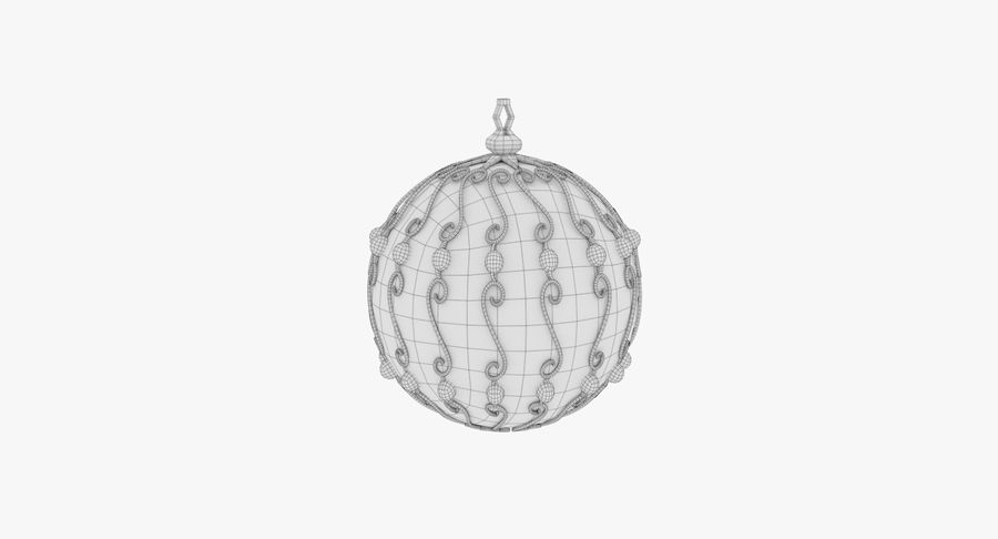 Christmas Ball royalty-free 3d model - Preview no. 15