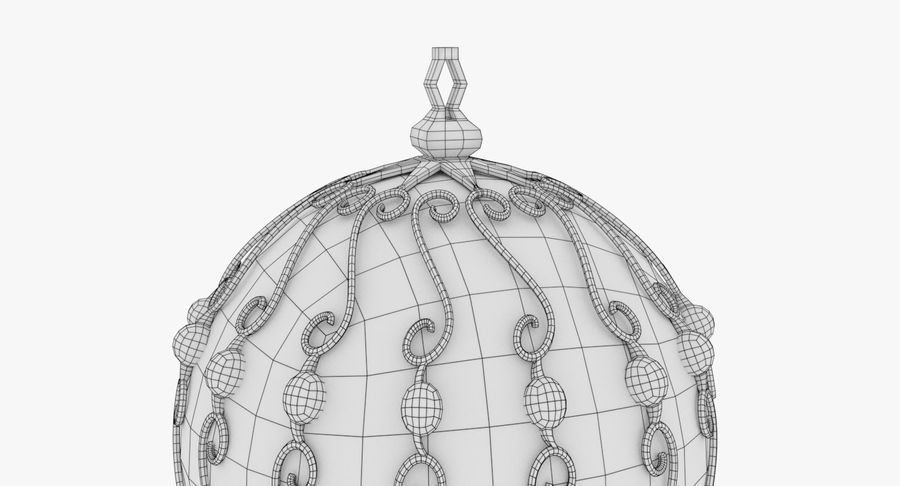 Christmas Ball royalty-free 3d model - Preview no. 16