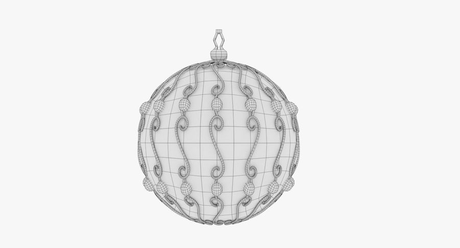 Christmas Ball royalty-free 3d model - Preview no. 12