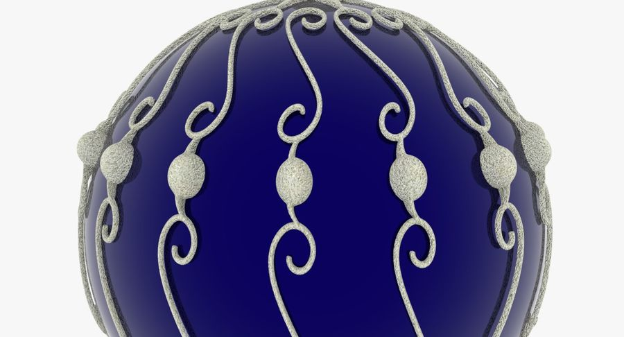 Christmas Ball royalty-free 3d model - Preview no. 7