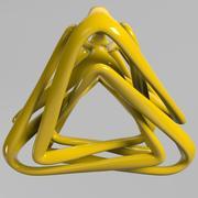 Modèle pyramidal 3d model