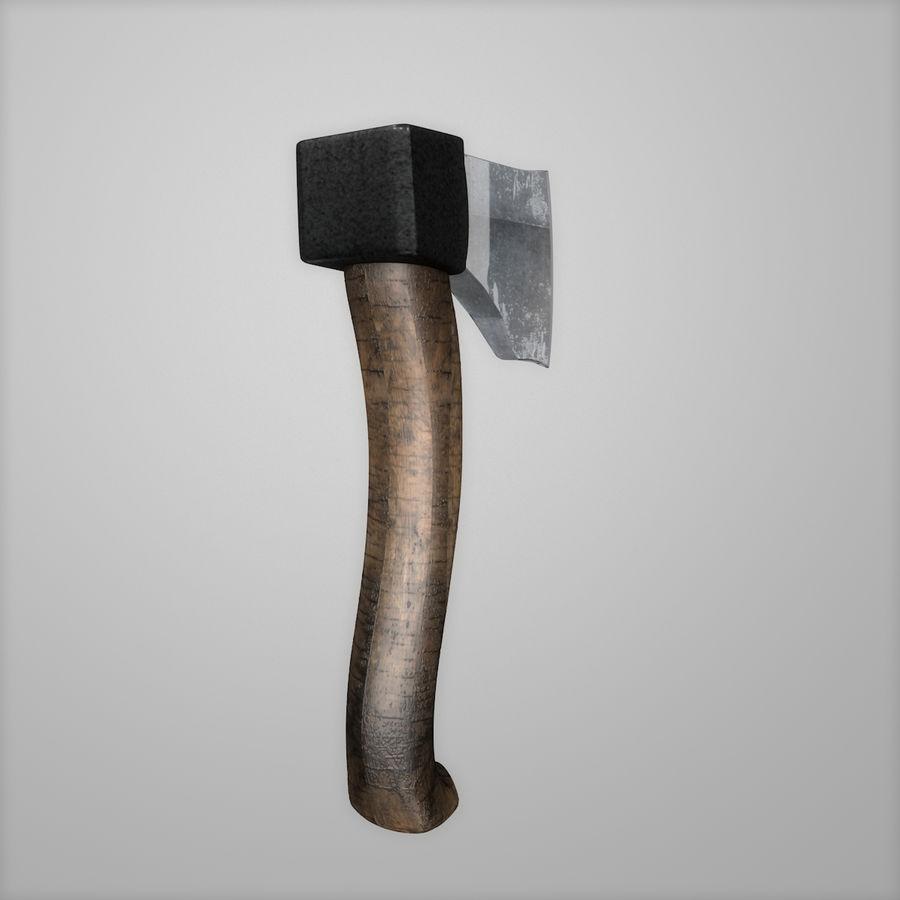 Hacha Realista Metal Hierro royalty-free modelo 3d - Preview no. 8