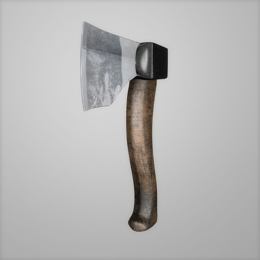 Hacha Realista Metal Hierro royalty-free modelo 3d - Preview no. 2