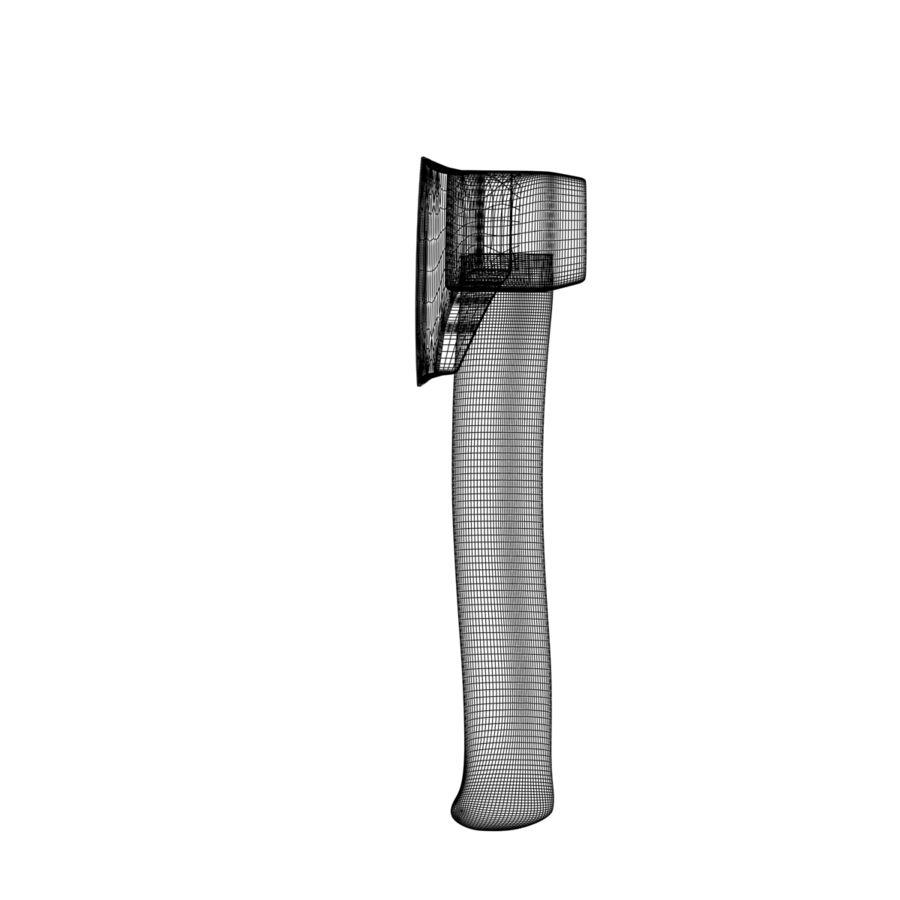 Hacha Realista Metal Hierro royalty-free modelo 3d - Preview no. 18