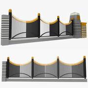 围栏3 3d model
