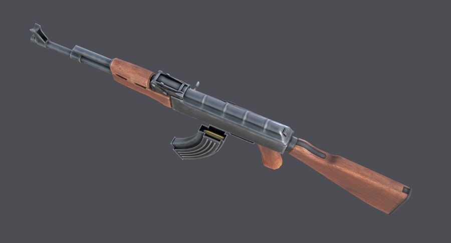 AK-47 royalty-free 3d model - Preview no. 17