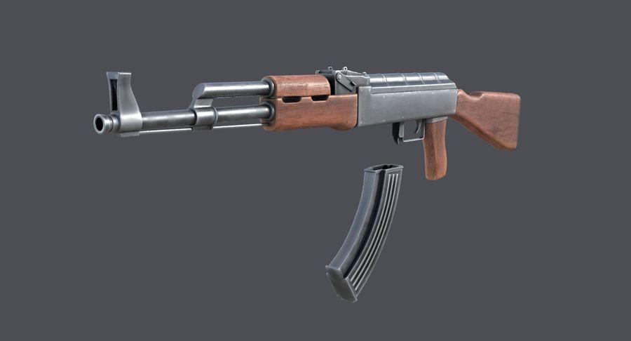 AK-47 royalty-free 3d model - Preview no. 5