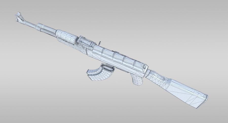 AK-47 royalty-free 3d model - Preview no. 18