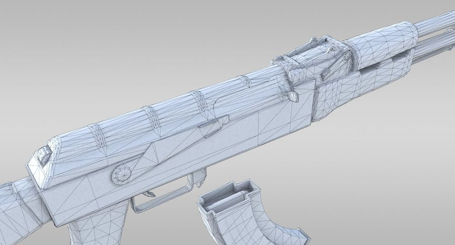 AK-47 royalty-free 3d model - Preview no. 22