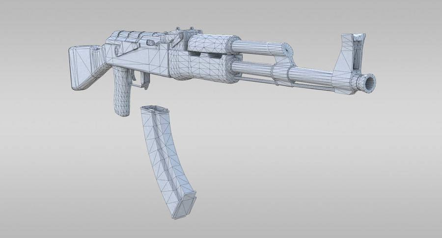 AK-47 royalty-free 3d model - Preview no. 24