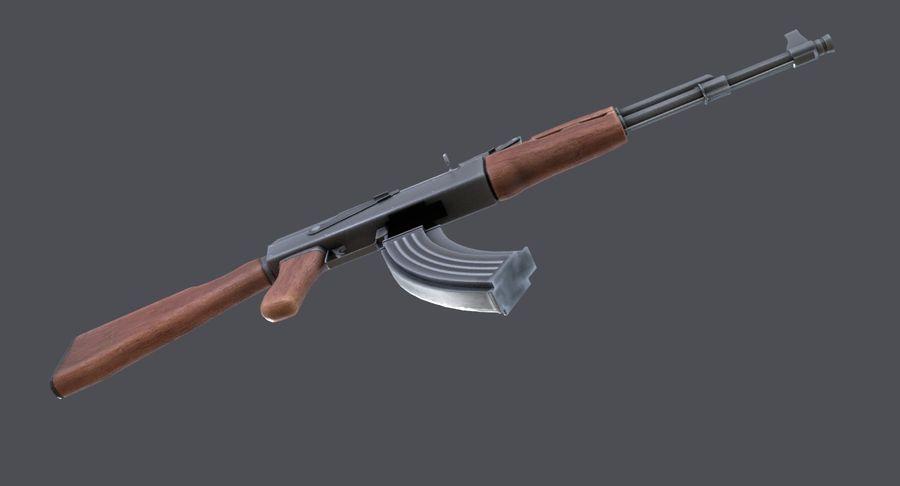 AK-47 royalty-free 3d model - Preview no. 19