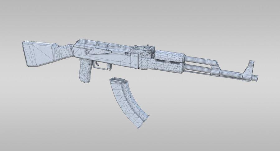 AK-47 royalty-free 3d model - Preview no. 12