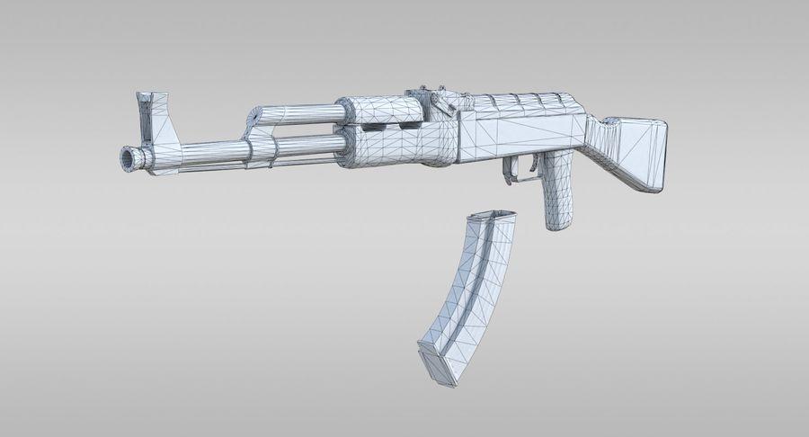 AK-47 royalty-free 3d model - Preview no. 6