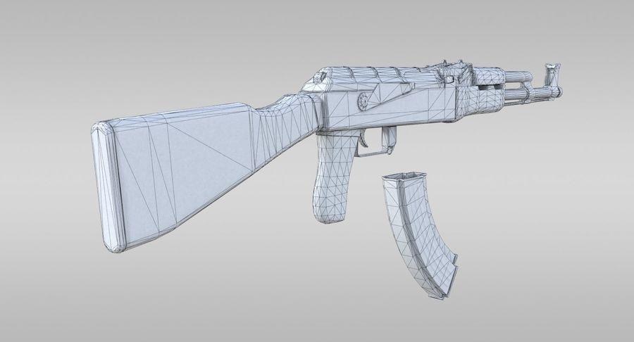 AK-47 royalty-free 3d model - Preview no. 10