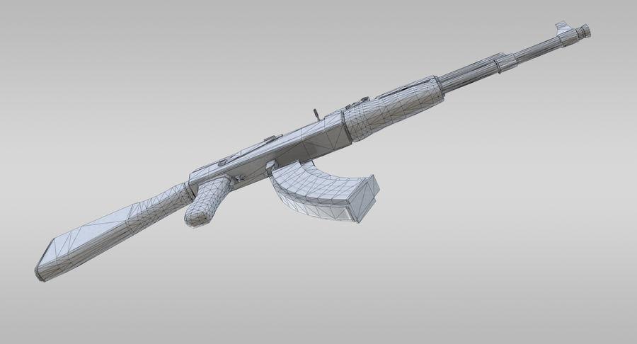 AK-47 royalty-free 3d model - Preview no. 20