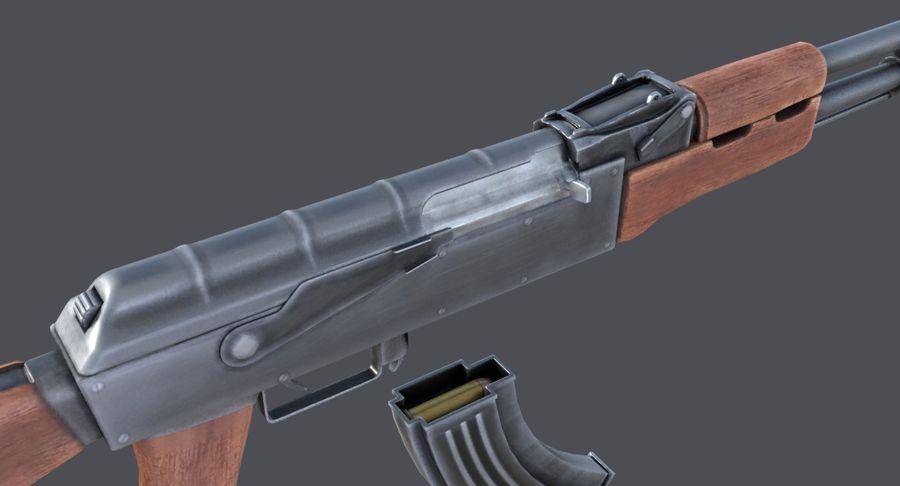 AK-47 royalty-free 3d model - Preview no. 21