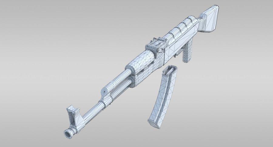 AK-47 royalty-free 3d model - Preview no. 8