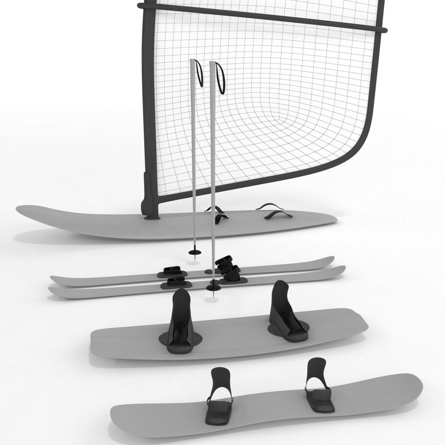 Lowpoly Sport Board Collection royalty-free 3d model - Preview no. 1