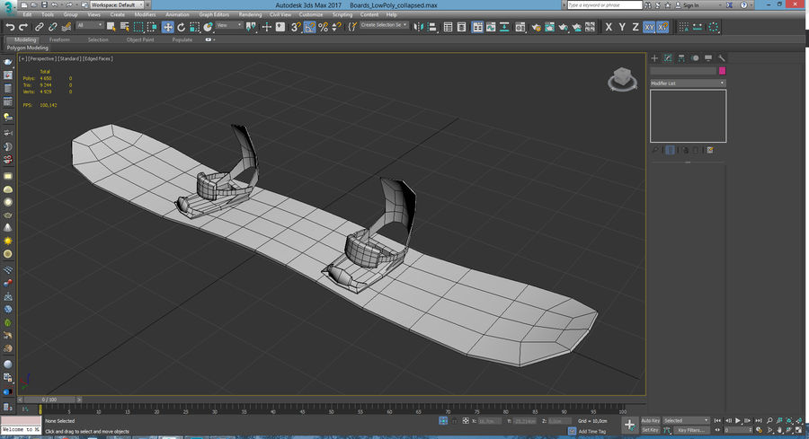 Lowpoly Sport Board Collection royalty-free 3d model - Preview no. 13