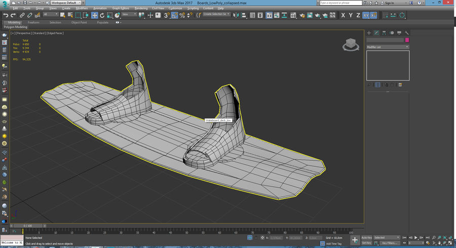 Lowpoly Sport Board Collection royalty-free 3d model - Preview no. 14