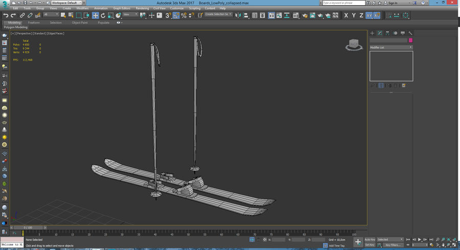Lowpoly Sport Board Collection royalty-free 3d model - Preview no. 15