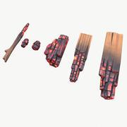 定型化された炭化fire 3d model