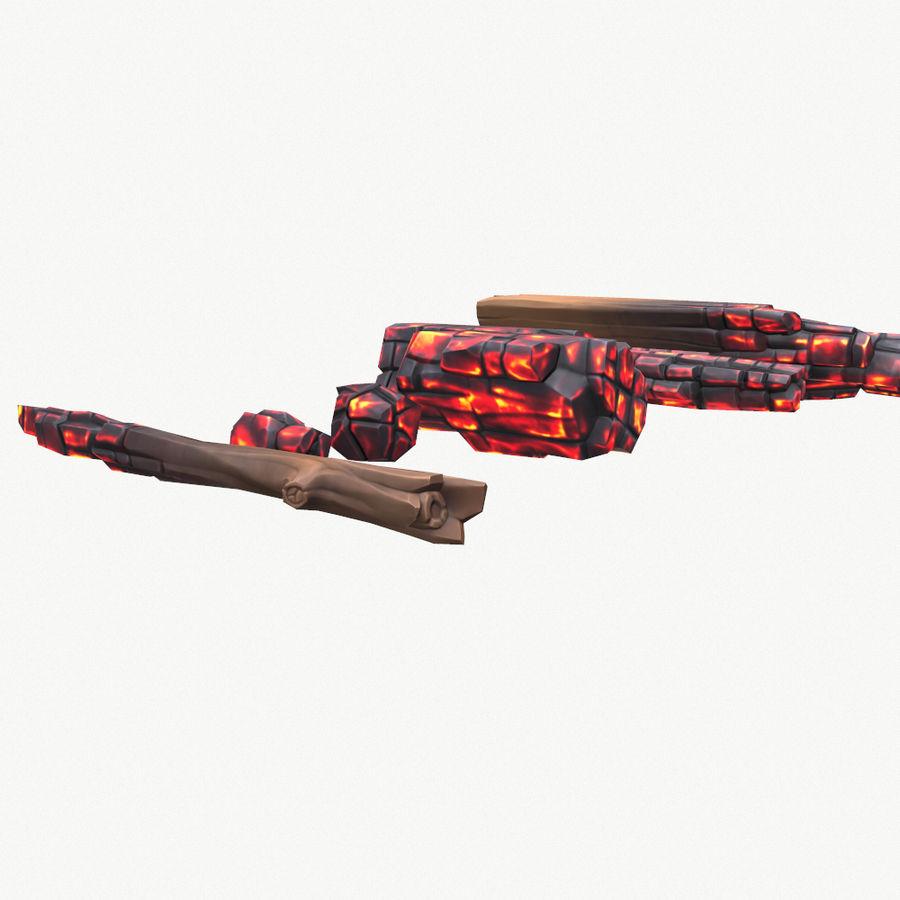 定型化された炭化fire royalty-free 3d model - Preview no. 6