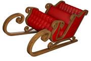 Christmas Santa Chariot Car 3d model