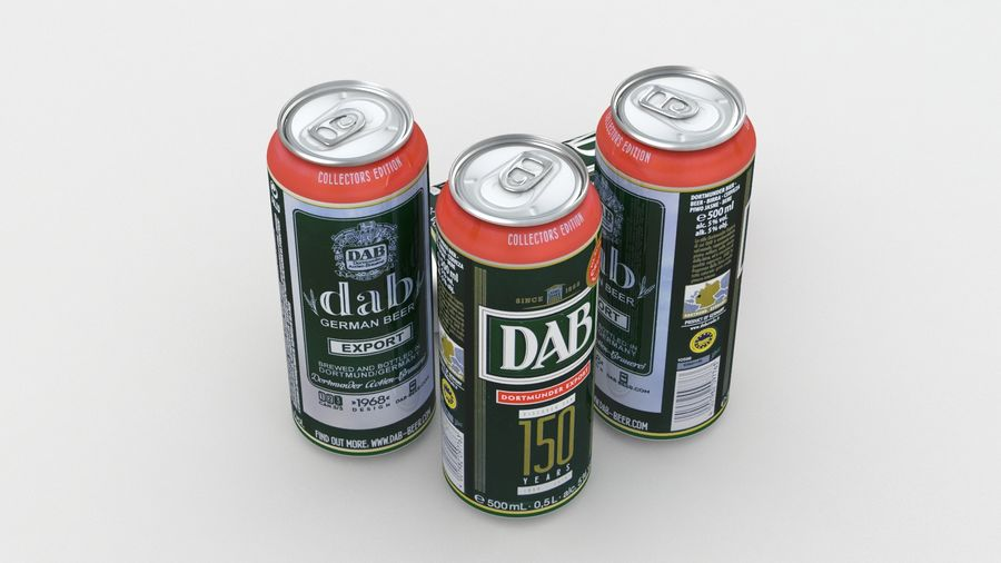 Beer Can DAB Export 150 years 500ml royalty-free 3d model - Preview no. 3