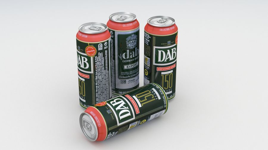 Beer Can DAB Export 150 years 500ml royalty-free 3d model - Preview no. 7