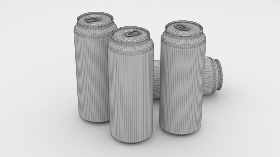 Beer Can DAB Export 150 years 500ml royalty-free 3d model - Preview no. 8