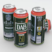 Beer Can DAB Export 150 years 500ml 3d model