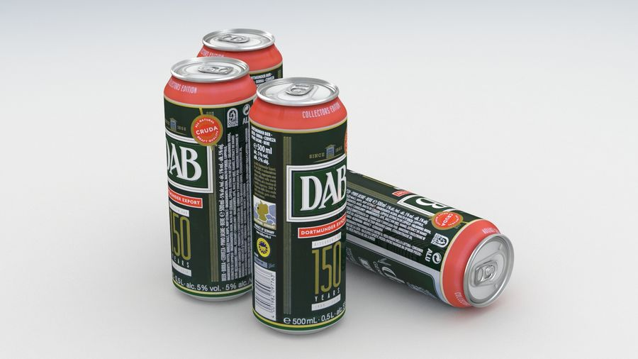Beer Can DAB Export 150 years 500ml royalty-free 3d model - Preview no. 6