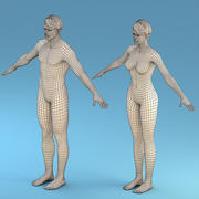 Base Character Male or female 3d model