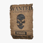 Wanted Poster v1 - (Editable) 3d model