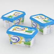 Flora Light Butter Spread 400g 3d model