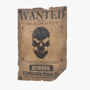 Wanted Poster v2 - (Editable) 3d model